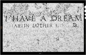 Martin Luther King's memorial stone