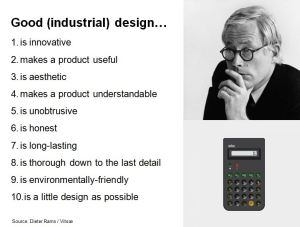 good industrial design summary from Dieter Rams
