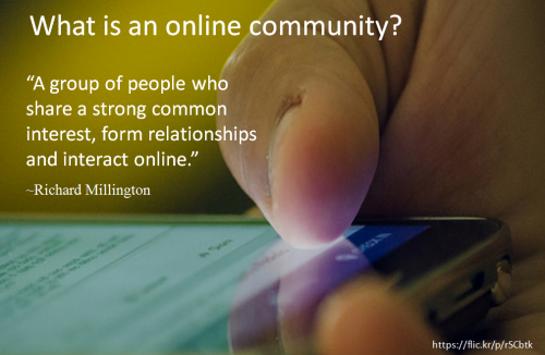 What is online community
